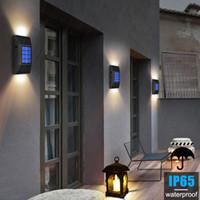 Solar Lamps 2 Pcs LED Light Outdoor Waterproof Lighting Powered Street For Garden Decoration Wall Lamp