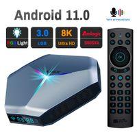Transpeed Android11 TV BOX A95X F4 Dual Wifi 8K 4K 3D Amlogic S905X4 RGB Light Youtube Blacklight Voice Media Player Set top box