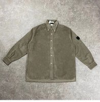 Tasarımcı erkek Casual Gömlek Vintage Kadife Haki Mavi Kırmızı Renk Gömlek Ceket Kadınlar ve Erkekler Için Sıcak Açık Ceket