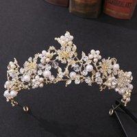 Hair Clips & Barrettes Handmade Crystal Pearl Diadem Baroque Rhinestone Crown Women Accessories For Bride Wedding Tiara Headbands