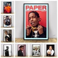 Pinturas Asap Rocky Rap Muziek Ster Hiphop Art Decoración Foto Kwaliteit Canvas Schilderij Home Poster Living Bar Muur