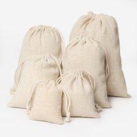 50 шт. Роскошные ювелирные изделия льняные сумки для стрижки сумка 8x10cm 9x12cm 10x15cm wedding party holder держатель хлопчатобумажной подарочной упаковки сумка 13 u2