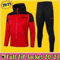 2020 2021 Manchester Rashford Cavani Full Zip Sweat à capuche Football Football Football Football TrackSuit 20/21 Pantalons Kit complet Kit Former Chandal