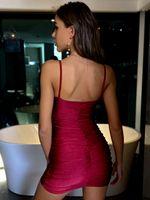 Slim Nightclub Party Bosom Dresses Delle Donne BodyCon Dress Slip Slip Mini Gonne Abbigliamento moda Rosso Blu Will and Sandy