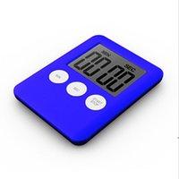 LED Digital Kitchen Timer Plastica Columning County Up Countdown Clock Magnete Allarme Strumenti di cottura elettronici 10 colori AHF5106