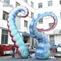 Gesimuleerde diepzee dieren opblaasbare octopus been gigantische blaas marine octopus tentakel voor concert fase en park decoratie