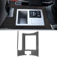 لتويوتا RAV4 XA30 2006-2013 ألياف الكربون LHD RHD اكسسوارات السيارات الفرامل فرملة اليد لوحة غطاء الإطار ملصق تقليم الديكور الداخلي