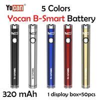 Yocan B-Smart Vape Battery Pen 320mAh Slim Twist Preheat VV Bottom Adjustable Voltage E Cig 510 with Display Stand