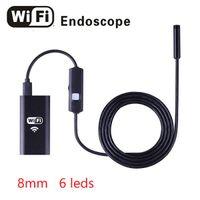 Lentille de 8mm HD 720P WiFi Endoscope Caméra 6leds Mini Wireless Wirelape Inspection Caméra Borecope pour Android iOS Windows