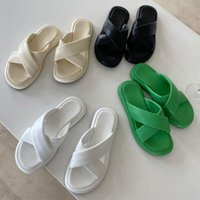 Slippers Brand Design Cross-tied Solid Platform Chunky Female Sandals Women 2021 Summer Beach Slides Shoes Outdoor Ladies