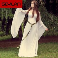 Casual Dresses Umko Medieval Renaissance Princess Maxi Kleid Vintage Flare Sleeve Cosplay Long Bodycon 2021 Gothic Plus Size Vestidos