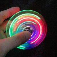 LED 장갑 Fingertip 자이로 스코프 소스 문자 스트라이프 램프 전기 도금 TrleaLeaf Glow 크리스탈 어린이 손가락 장난감