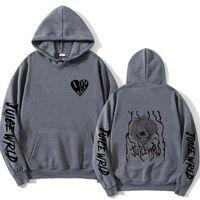 Men's Hoodies & Sweatshirts Print Juice WRLD Men Women Hooded Hip Hop Fashion Casual Hoodie Boys Girls White Pullovers