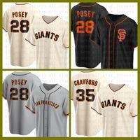 Сан-Франциско бейсбол Джерси Гиганты пользовательских 28 Buster Posey 22 будет Clark 35 Brandon Crawford 40 Madison Bumgarner 41 Марк Мелансон