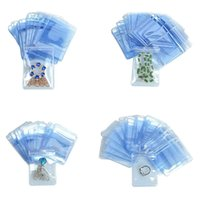 1500Pcs/ Lot 4*6cm Clear Plastic Party Jewelry Pack PVC Anti-oxidation Self Seal Zipper Zip Lock Packaging Pouch Poly Bag