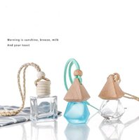 Glass Bottle Travel Storage Bottles Party Supplies Car Perfume Pendant Cosmetic Container Sub-Bottling Mini 8ml EWB7698