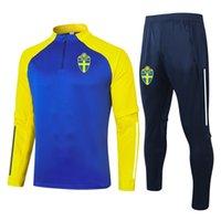 2021 İsveç Futbol Eğitim Takım Elbise Yetişkin Futbol Eşofman Setleri KITS Kış Spor Kazak ve Pantolon Eğitim Setleri Erkek Eşofman