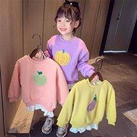 Vidmid Kızlar Kazak Kış Giysileri Batı Tarzı Karikatür Çocuk Kore Yuvarlak Boyun Uzun Kollu P766 Tops