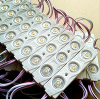 جديد 5730 3LED حقن LED الوحدة 12 فولت مع عدسة للماء IP65، 120Degree1.5W الأبيض، LED علامة، متجر لافتة