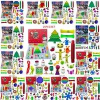 24/25 Tage Weihnachten Zappeln Spielzeug Weihnachten Countdown Kalender Blind Boxes Push Bubbles Kinder Geschenke 10 Arten Adventskalender Weihnachtskiste