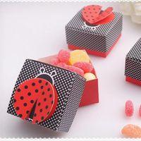 10 шт. 3D крыла божья коровка подарочные коробки свадьба детское душевая кабина коробка конфеты коробка шоколадная упаковочная коробка для дня рождения вечеринка