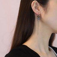 Hoop & Huggie Stainless Steel Cross Drop Statement Earrings For Women Men Fashion Vintage Chain 2021Unusual Earings Party Punk Jewelry