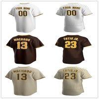 Custom Manny Machado Jersey Yu Darvis Tatis Jr. Tony Gwynn Chris Paddack Wil Myers Mike Clevinger Baseball Maillots