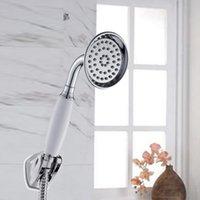 Yüksek Basınçlı Pirinç Seramik Kolu Duş Başlığı ABS Plastik Su Tasarrufu Duş Başlığı Banyo Filtresi Yağmur Sprey Duş 210309
