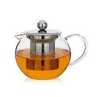 1 Takım Yeni Isıya Dayanıklı Cam Çay Potu Çiçek Çay Seti Puer Su Isıtıcısı Kahve Çaydanlık Ile Demlik 1 ADET 950 ml Çaydanlık + 2 adet Kupası 257 S2