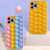 Relive Stress Phone Case For Iphone X XR XS 11 12 Pro Max 6 6s 7 8 Plus Pop Fidget Toys Push It Bubble Soft Silicone Phone Cover