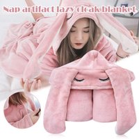 Scarves Air Conditioning Blanket Office Cloak Cartoon Ears Nap Cape Shawl -OPK