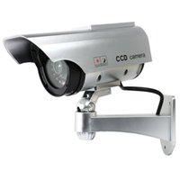 Boxkameras Solar Power Dummy Kamera Sicherheit Wasserdichte Fake Outdoor Indoor LED-Lichtmonitor CCTV-Überwachung