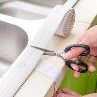 3.2MX38mm Öz PVC Lavabo Banyo Sızdırmazlık Beyaz Bant Şerit Su Geçirmez Banyo Banyo Duş Duvar Mutfak Yapışkan Sticker RSAOR EWF5442 için