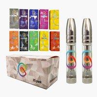 Colors Ceramic Vape Cartridges Empty Vapes Pen Atomizer 510 Thread Cartridge E-Cigarettes Vaping Carts 0.8ML Thick Oil Vaporizer Pens with display box in stock