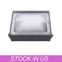 거리 램프 80W 벽 팩 DAWN 5400LM 5000K 일광 IP66 방수 가벼운 장착 야외 보안 조명기구