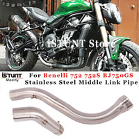 For Benelli 752 752S BJ750GS Motorcycle Exhaust Pipe Stainle...