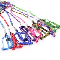 Dog Collars & Leashes Colorful Pet Leash Harness Polyester Traction Rope Soft Walking Lead Accessories Supplies