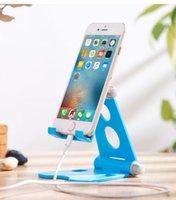 Supporti da tavolo da scrivania per telefoni cellulari Treppiede Plastica regolabile Pieghevole Pieghevole universale Tavolo da incasso Supporti