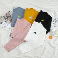 Women's T-Shirt Fashion T-shirts Woman Spring Autumn Girls Print Long Sleeve Women Tshirt Tops O-Neck Loose Female Shirts Soft Lady