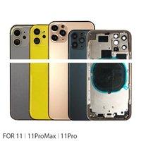 أفضل جودة ل iphone11pro 11promax 11 غطاء الإسكان باب البطارية إطار الهيكل الخلفي مع الغطاء الخلفي الزجاج