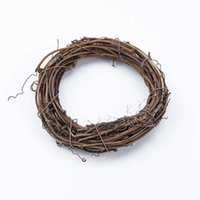 3 6Pcs Rattan Decor Ring Artificial Garland Dried Flower Frame Home Christmas Decoration DIY Floral Wreaths 10 20 30 40cm Y0901