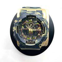 Saatı Yüksek Kaliteli erkek Saatler G100 Spor Kuvars Erkek İzle GA100 ve Dünya Zaman Çift Renkli LED Dijital