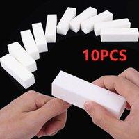2/5 / 10pcs Nouvelle éponge Fichier ongle Blanc Coloré Colorful Conding Block Block Acrylique Polonais Pédicure Manucure Fichier Nail Tableau tampon