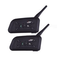 Vnetphone V6 Walkie Talkie 1200M Мотоцикл Bluetooth Шлем Домофон для 6 Riders BT Беспроводные Водонепроницаемые Hearphone Headsets MP3