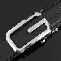 Brand Belts Ailanbao Ocio Cinturón de hombre Hebilla automática Cabeza de doble cara Cuero G Letra Versión coreana Verde Media-