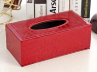 Atacado- Estilo de Crocodilo Caixa de Tecido Capa Casa Pu PU Paper Titular Caso de Alta Qualidade para Cozinha / Quarto Creative Tissue Case