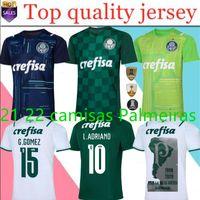 21 22 Camisas Palmeiras Jersey G.Gomez G.Veron L.Adriano Ramires DUDU 2021 2022 Finales de gardien de but Hommes Femme Kit Kit de football