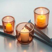 Kerzenglasglas Kristall Kerze Jar Für Weihnachten Valentinstag Tag Romantisches Zuhause Kerzenlicht Abendessen