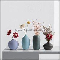 Vases Décor & Gardenvases Ceramic Small Vase Living Room Flower Arrangement Home Decoration Floral Decor Drop Delivery 2021 Mcnsb