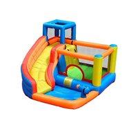 Castelo de ar almofada de água inflável corrediça de água salvador bouncy para crianças festa de aniversário interior ao ar livre com ventilador inflatabled brinquedo baby baby